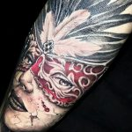 Mask tattoo-Collective Studios Ink