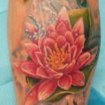 Pink Flower Tattoo- Collective Studios Ink