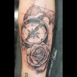 Collective Studios Ink - Compass Tattoo