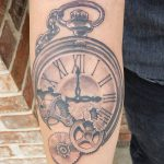Broken Stopwatch tattoo-Larry Farley Tattoo artist logo
