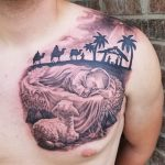 Nativity Scene tattoo-Larry Farley Tattoo artist logo